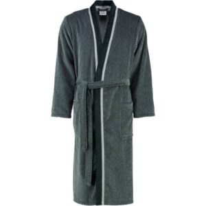 Cawö - Herren Bademantel Kimono 4839 - Farbe: silber/schwarz - 79 M