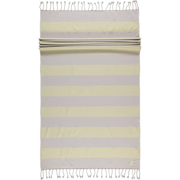 Cawö - Badetuch Code Hamam Blockstreifen 5503 - 90x180 cm - Farbe: lemon - 75