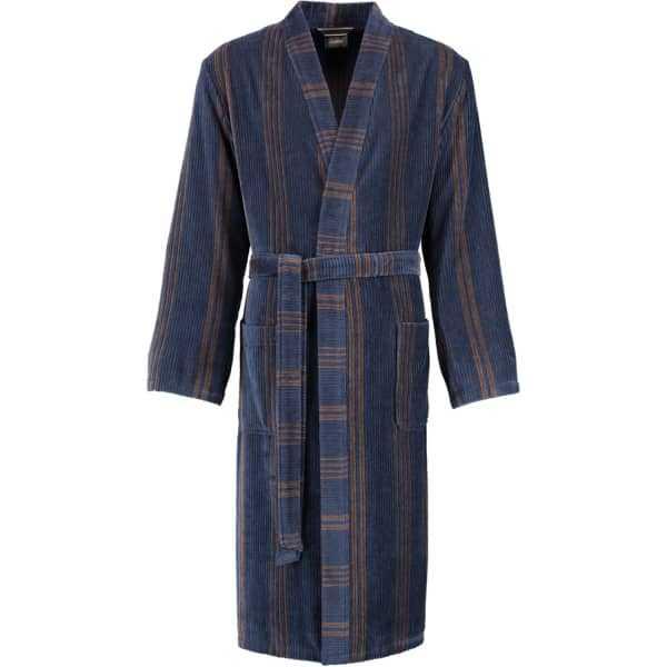 Cawö Herren Bademantel Kimono 2508 - Farbe: blau - 13 M