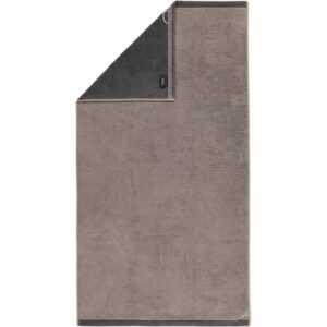 Cawö Plaid Doubleface 7070 - Farbe: graphit - 77 Duschtuch 70x140 cm