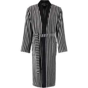 Cawö Herren Bademantel Kimono 3833 - Farbe: schwarz-graphit - 97 M