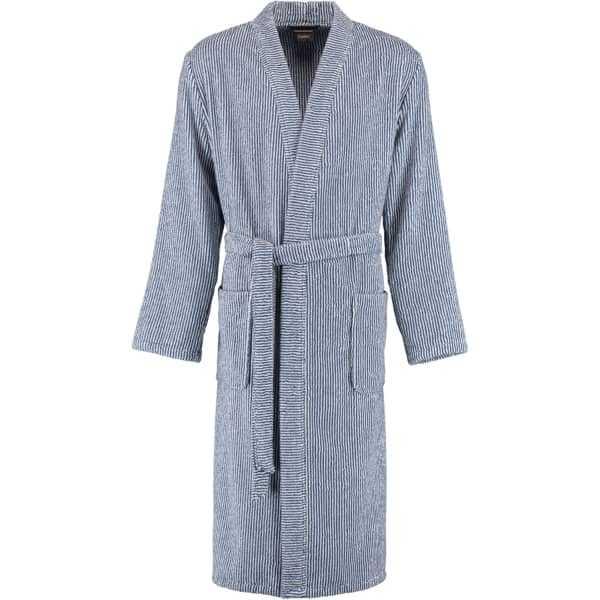 Cawö Herren Bademantel Kimono 3834 - Farbe: navy-weiß - 16 S