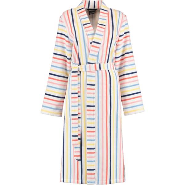 Cawö Damen Bademantel Kimono 3343 - Farbe: weiß-multicolor - 62 M