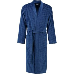 Cawö Herren Bademantel Kimono 3714 - Farbe: saphir - 166 XL