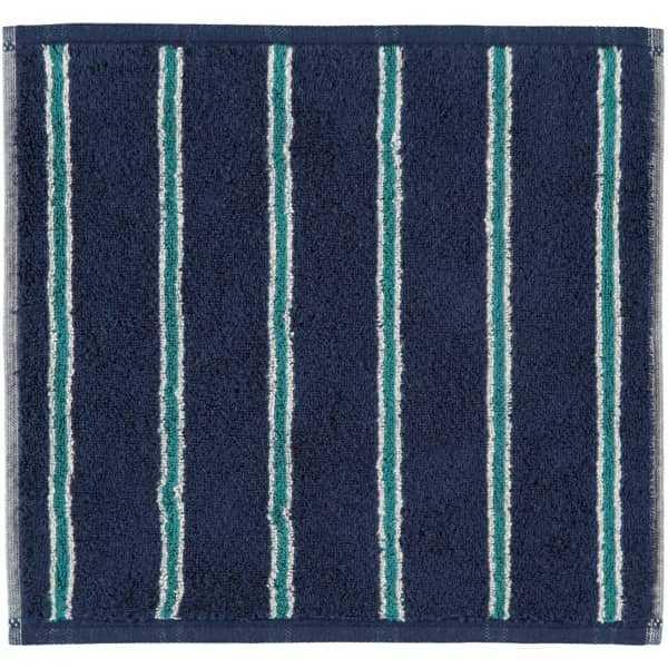 Cawö Polo Streifen 365 - Farbe: navy - 14 Seiflappen 30x30 cm