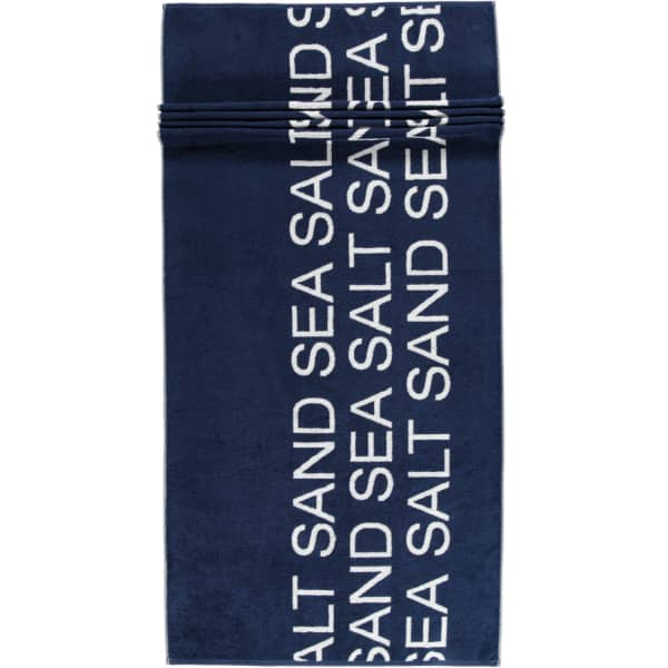 Cawö Saunatuch Sea Salt Sand Typo 442 - 80x180 cm - Farbe: navy-weiß - 16