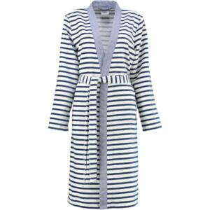 Cawö - Damen Bademantel Kimono Breton 6595 - Farbe: navy - 16 L