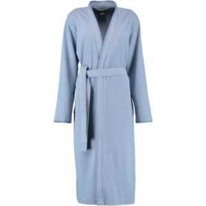 Cawö Home Active Damen Bademantel Kimono Pique 812 - Farbe: sky - 11 XL